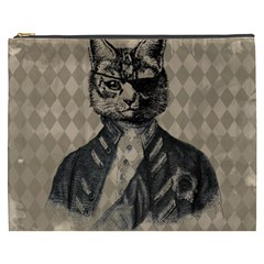 Harlequin Cat Cosmetic Bag (XXXL)