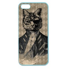 Harlequin Cat Apple Seamless iPhone 5 Case (Color)