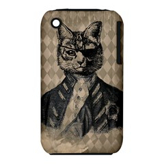 Harlequin Cat Apple iPhone 3G/3GS Hardshell Case (PC+Silicone)