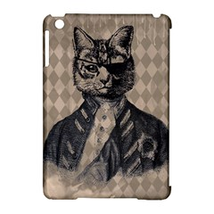 Harlequin Cat Apple iPad Mini Hardshell Case (Compatible with Smart Cover)