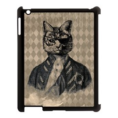 Harlequin Cat Apple Ipad 3/4 Case (black)