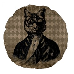 Harlequin Cat 18  Premium Round Cushion