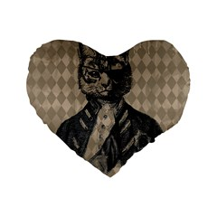 Harlequin Cat 16  Premium Heart Shape Cushion