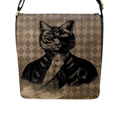 Harlequin Cat Flap Closure Messenger Bag (large)
