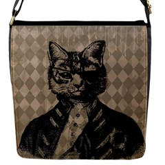 Harlequin Cat Flap Closure Messenger Bag (Small)