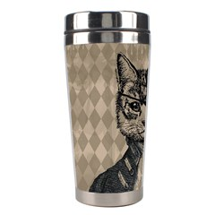 Harlequin Cat Stainless Steel Travel Tumbler