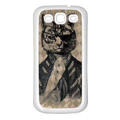 Harlequin Cat Samsung Galaxy S3 Back Case (white)