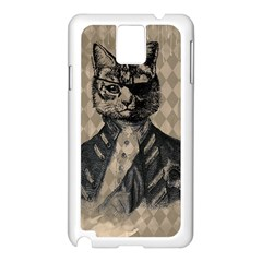 Harlequin Cat Samsung Galaxy Note 3 N9005 Case (White)