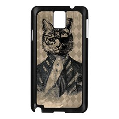Harlequin Cat Samsung Galaxy Note 3 N9005 Case (black)
