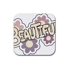 Beautiful Floral Art Drink Coasters 4 Pack (Square)