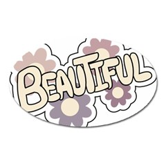 Beautiful Floral Art Magnet (oval)