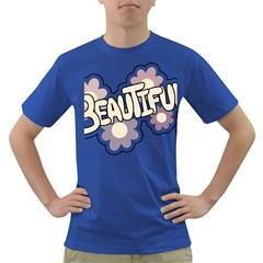 Beautiful Floral Art Men s T-shirt (Colored)