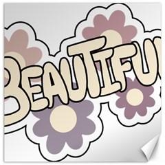 Beautiful Floral Art Canvas 16  x 16  (Unframed)