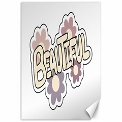 Beautiful Floral Art Canvas 20  X 30  (unframed)