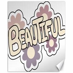 Beautiful Floral Art Canvas 11  x 14  (Unframed)