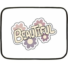 Beautiful Floral Art Mini Fleece Blanket (Two Sided)
