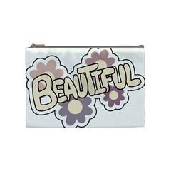 Beautiful Floral Art Cosmetic Bag (medium)