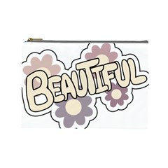 Beautiful Floral Art Cosmetic Bag (large)