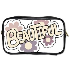 Beautiful Floral Art Travel Toiletry Bag (two Sides)
