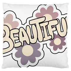 Beautiful Floral Art Large Cushion Case (single Sided)