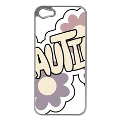 Beautiful Floral Art Apple iPhone 5 Case (Silver)