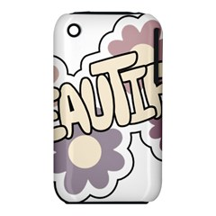 Beautiful Floral Art Apple iPhone 3G/3GS Hardshell Case (PC+Silicone)