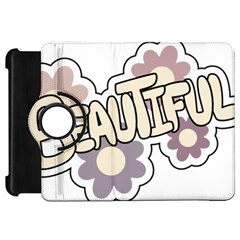 Beautiful Floral Art Kindle Fire HD 7  (1st Gen) Flip 360 Case