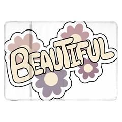 Beautiful Floral Art Samsung Galaxy Tab 8 9  P7300 Flip Case