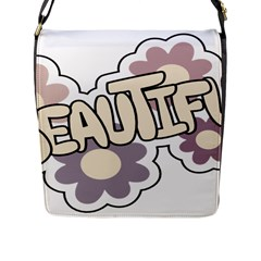 Beautiful Floral Art Flap Closure Messenger Bag (Large)