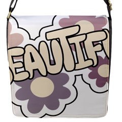 Beautiful Floral Art Flap Closure Messenger Bag (Small)