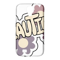 Beautiful Floral Art Samsung Galaxy S4 Classic Hardshell Case (pc+silicone)