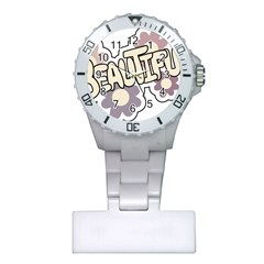 Beautiful Floral Art Nurses Watch