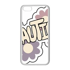 Beautiful Floral Art Apple iPhone 5C Seamless Case (White)