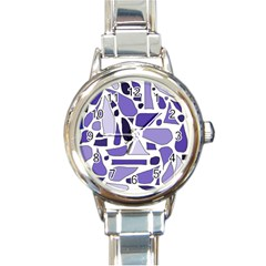 Silly Purples Round Italian Charm Watch