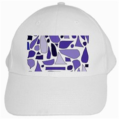 Silly Purples White Baseball Cap
