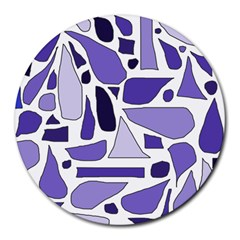 Silly Purples 8  Mouse Pad (round)