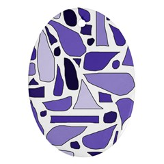 Silly Purples Oval Ornament