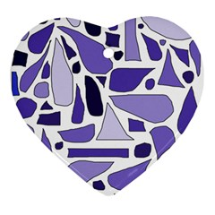 Silly Purples Heart Ornament
