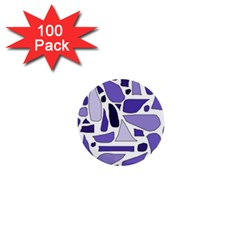 Silly Purples 1  Mini Button (100 Pack)