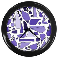 Silly Purples Wall Clock (Black)