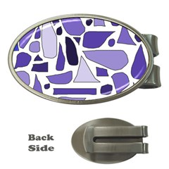 Silly Purples Money Clip (oval)