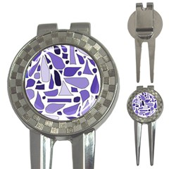 Silly Purples Golf Pitchfork & Ball Marker