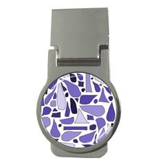 Silly Purples Money Clip (round)