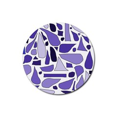 Silly Purples Drink Coaster (round)
