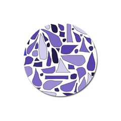Silly Purples Magnet 3  (Round)