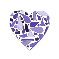 Silly Purples Magnet (Heart)