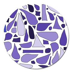 Silly Purples Magnet 5  (Round)
