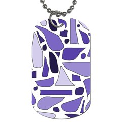 Silly Purples Dog Tag (One Sided)
