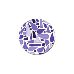 Silly Purples Golf Ball Marker