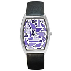 Silly Purples Tonneau Leather Watch